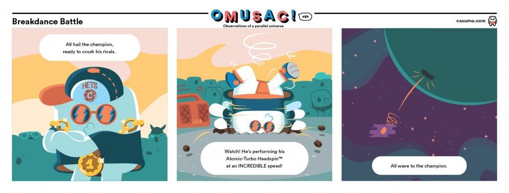 OMUSAC! En tecknad serie från Casumo casino
